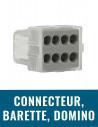 Connecteur, barrette, domino, borne