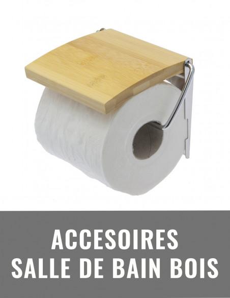 Accessoires de salle de bain bois
