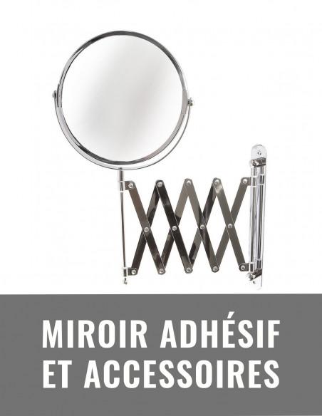 Miroir adhésif et accessoires