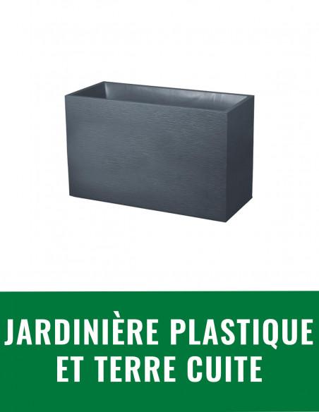 Jardinière plastique et terre cuite
