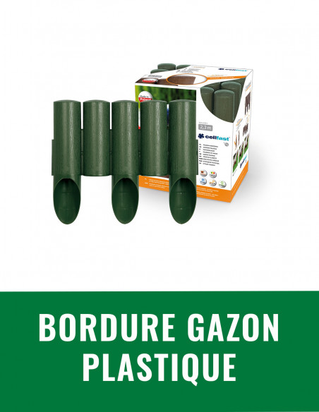 Bordure gazon plastique