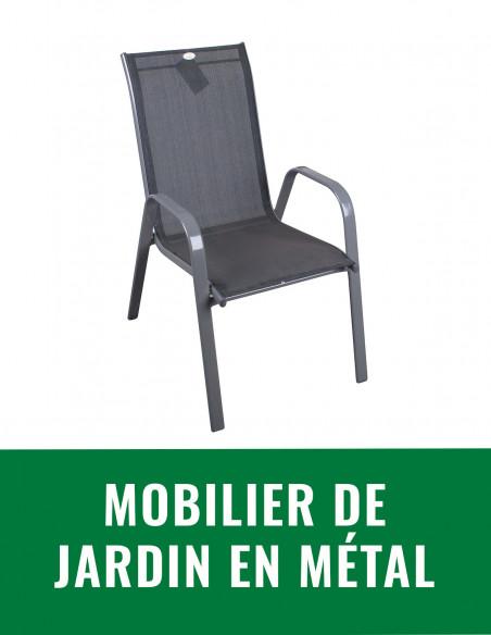 Mobilier de jardin en métal